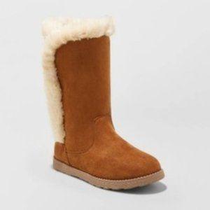 Girls' Hart Shearling Boots - Cat & Jack Chestnut